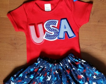 July 4th onesie outfit
