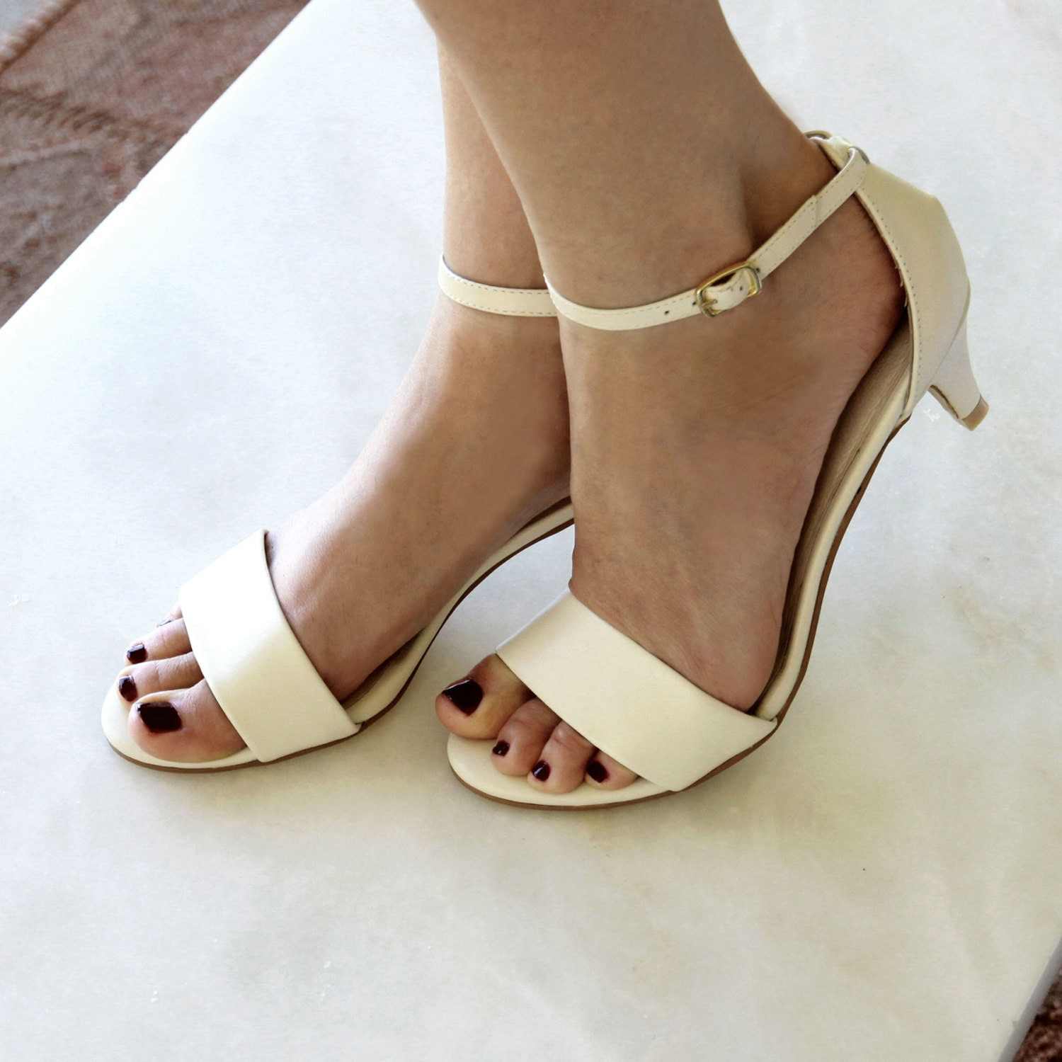 Ladies Ivory Low Heel Wedding Shoes. Low Heel By ForeverSoles