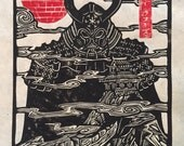 Darth Vader Samurai Block Print