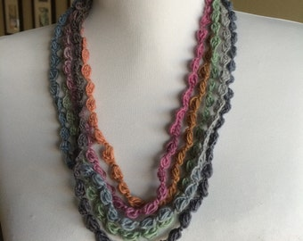 FIREWORKS,    Crocheted Necklace, Bracelet, 14 - D