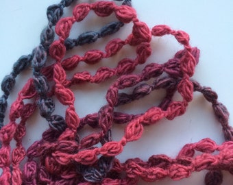 DYNAMITE  ,  Crocheted Necklace, Bracelet, 24