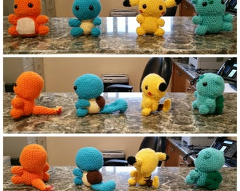 Crochet pokemon.  10 dollars each