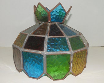 Multi Color Stained Glass Lamp Shade Globe Replacement Pendant Lamp shade