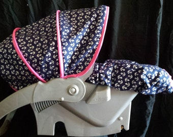 Infant Car Seat Cover and Blanket