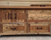 Reclaimed or Barnwood Bar Carts, Cooler Console Tables, Media Storage Cabinets, Buffets, Sideboards, Kitchen Islands - Custom designs