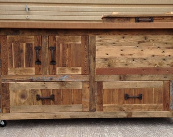 Custom Reclaimed or Barnwood Furniture, Bar Cabinets, Wooden Coolers, Console Tables, Buffets, Sideboards, Kitchen Islands