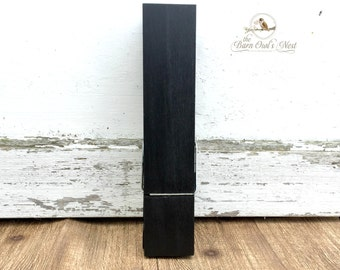 Chalkboard 9in Giant Clothespin, Clothespin Photo Holder, Note Holder, Clothespin Magnet, Child's Art Holder, Laundry Room Decor, Chalkboard