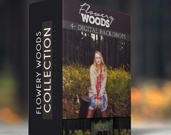 Flowery Woods Collection - Digital Backdrops