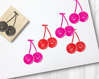 cherry rubber stamp - FREE SHIPPING WORLDWIDE*