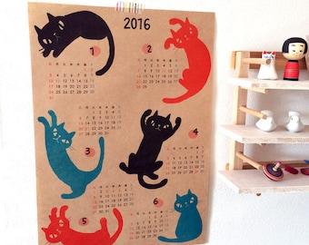 Cat Calendar 2016 - Japan dates- 2 posters