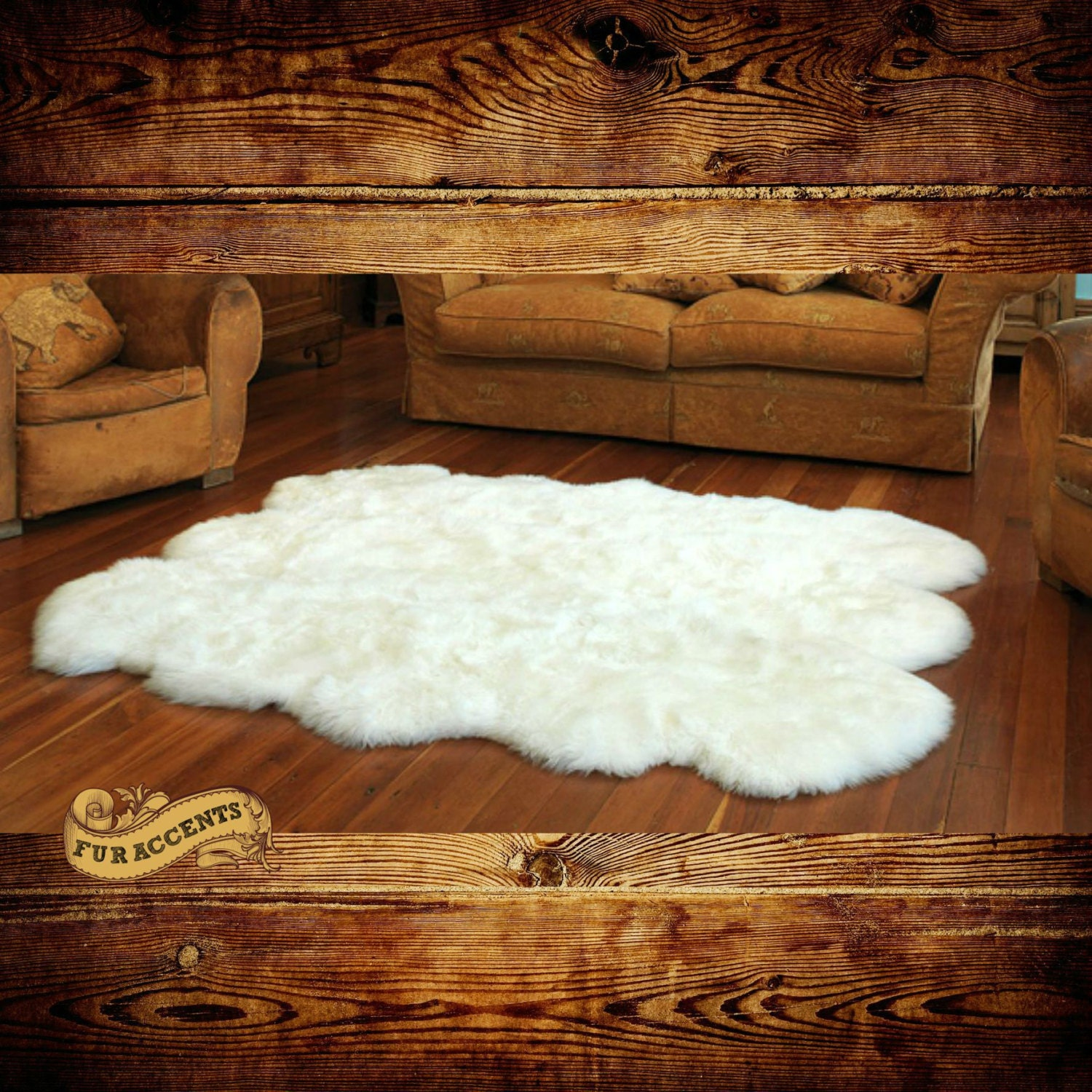Shag Carpet Large Sheepskin Rug Fake Fur Living Room By