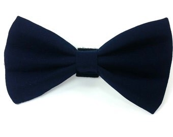 Navy blue dog bow tie, navy blue cat bow tie, wedding bow tie for dogs