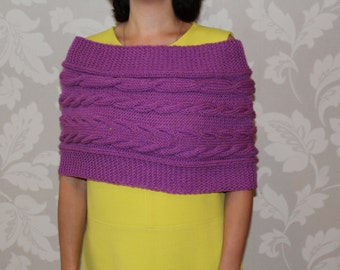 Knit Capelet, Shrug, Womens Knit Capelet, Womens Poncho knit, Knit Oversized Cowl,