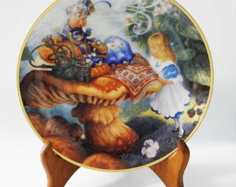 """Alice in Wonderland collectible plate - """"Advice from a Caterpillar"""" Bradford Exchange  1994"""
