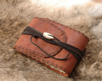 Leather Mini Journal - mini book