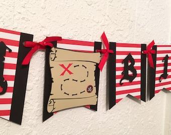 Pirate Birthday Banner, Pirate party, Pirate Birthday theme