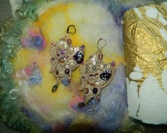 Autumn butterfly earrings