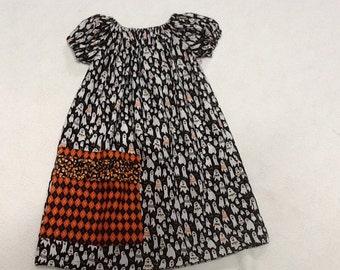 Fall Halloween Girls Size 5 Peasant Dress