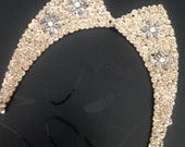 Gorgeous Sequin and Beaded champagne Statement Bib