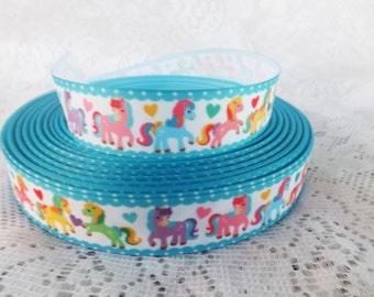 Pony ribbon Ponies ribbon 7/8 love pony ribbon horse ribbon