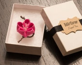 Cherry Blossom Lapel Pin / Elegant Handcrafted Pink Cherry blossom / Men Lapel Stick Pin / Boutonniere / Lapel Flower Pin