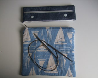 Quilted Accessory Pouch and DP Needle Holder