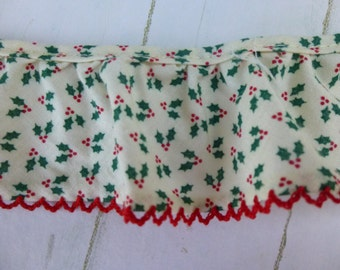 Holly Flower with Red Trim