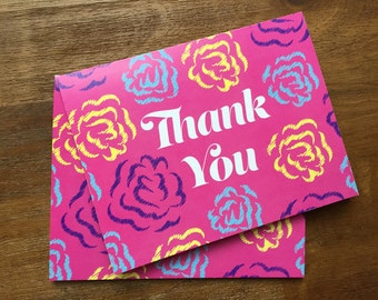 Floral Thank You Card Set (10 Cards)