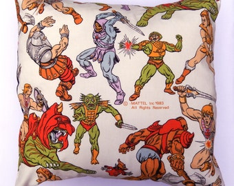 He-Man Vintage Fabric Cushion Masters of the Universe -  Pillow Handmade by Alien Couture