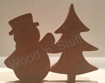 MDF Snowman & Tree