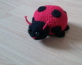 Handmade Crocheted Ladybird Soft Toy