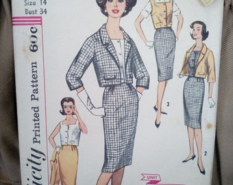 "Vintage Women's Sewing Pattern Simplicity 3357  size 14** bust 34""  **Uncut** on sale** free ship"