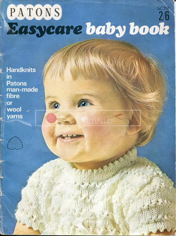 Patons Easy Care Baby Book SC119 3ply 4ply DK 18-22in Knitting Pattern PDF