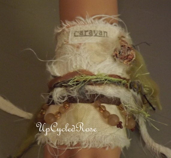 Jipcee Chic Caravan Cuff Wearable Art Trashion Fashion