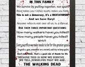 In this house,the walking dead, zombie, zombies, survive the walking dead, house rules, i survived