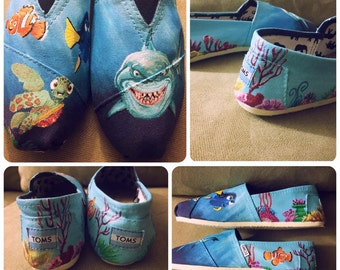 Finding Nemo Toms [hand painted finding nemo shoes] finding dory shoes