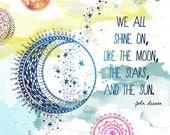Moon and Star -Art Print, John Lennon