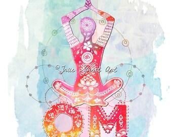 Om Yogi - Art Print, Yoga, Yogi