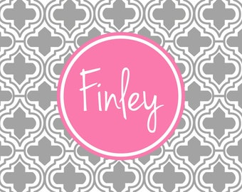 Personalized Placemat - preppy pastels Placemat 12x18
