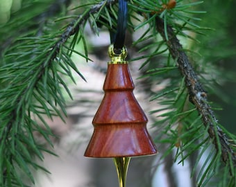 Wooden Tree Shaped Hand Turned Ornament