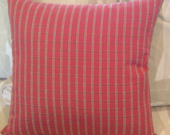 Berry /Green 16in reversible pillow cover