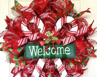 welcome christmas wreath on - photo #20