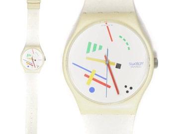 Vintage 80s Swatch Swiss Vasily Maxi Watch Wall Clock