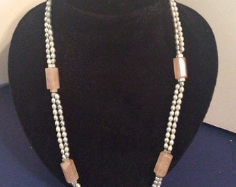 Fresh water pearl necklace 22 in