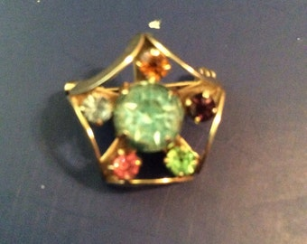 Rhinestone brooch 1 in