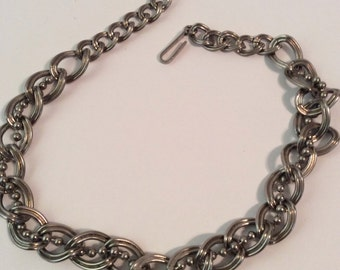 Silver toned necklace 12-15 in adjustable