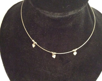 Silver toned necklace 13-16 in adjustable