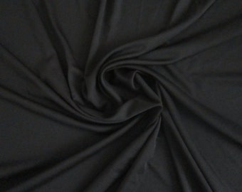Black - Rayon Jersey Fabric by the Yard  Viscose Spandex Jersey