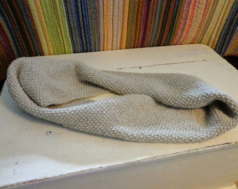 Infinity Scarf (Taupe), THE ABBY, knitted, cowl, handmade