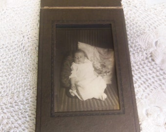 Vintage Black and White Baby Photograph  B128